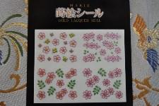 蒔絵シール 花柄4種